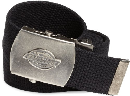 Dickies Men's 1 3/16 in. Cotton Web Belt With Military Logo Buckle - Cotton Web Belt