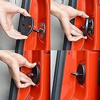 BESTEU 4pcs Coche Puerta Bloqueo Protector Cubierta para Skoda Audi Volkswagen Jetta Tiguan Polo Porsche