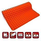 Collory Silikon-Backmatte mit Pyramiden-Noppen | Wiederverwendbare Backunterlage für Backblech | Antihaftend | Hitzebeständig bis 240°C | Größe ca. 40 x 28 x 1.2 cm | Fettarm und gesund kochen | Lebensmittelecht (BPA-frei)