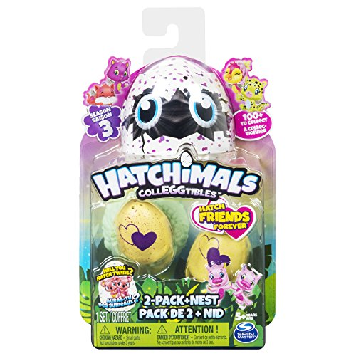 Hatchimals 6041332 Colleggtibles 2 Pack + Nest S3, unisex-child