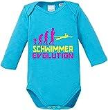 EZYshirt Schwimmer Evolution Baby Body Longsleeve