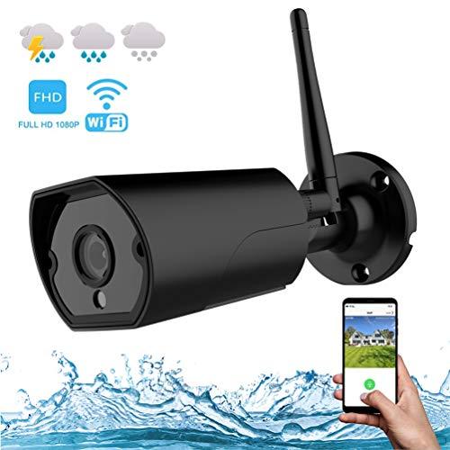 Überwachungskamera Aussen, WLAN Kamera IP66 Outdoor 1080p FHD 2-Wege-Audio Push-Alarm Nachtsicht Bewegungserkennung Wetterfest, APP-Steuerung für iOS und Android Kostenlose 32G TF-Karte