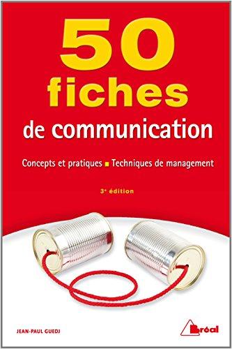 50 Fiches de Communication par Guedj Jean-Paul