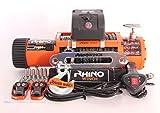 12V 4x 4Verricello elettrico 13500lb Sintetico Corda-Due Telecomandi