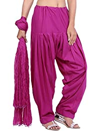 Jaipur Kurti Pure Cotton Patiala Salwar And Dupatta Set (Mauve)