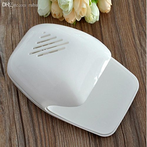 Absales Mini Portable Finger Nail Fast Polish Blower Dryer for Nail Art Tip-White