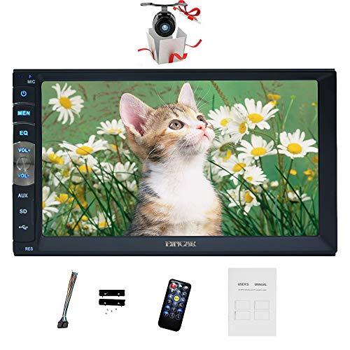 EINCAR In Dash Doppel-DIN-kapazitive Screen-Autoradio 7 Zoll-Auto Stereo Bluetooth Auto-MP5 1080P Video FM Radio/TF mit Rückfahrkamera & Wireless Fernbedienung