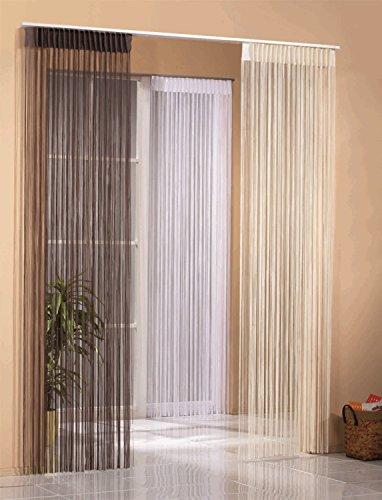 Hochwertiger Jacquard Fadenstore / Fadengardine / Raumteiler in weiß, braun oder natur 150x245cm