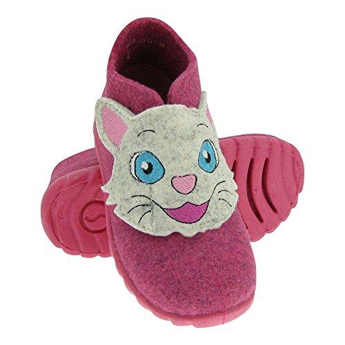 GALLUX - Mädchen Jungen Schuhe Hausschuhe Klettschuhe mit süßem Tiermotiv Pink
