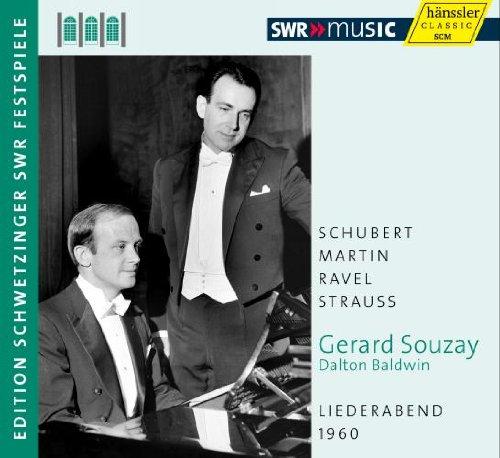Gérard Souzay Chante Schubert Martin Ravel et Strauss : Lied