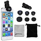 4in1 Selfie Camera Mobile Cell Phone accessories: 180¡ã Fisheye lens + 0.67x wide angel lens + Macro lens + 2x Telephoto lens + phone clip Per iPhone 5S 6S 6 Plus; Samsung Galaxy S5 S6 DC688