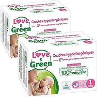 Love & Green Couches Hypoallergen Geburt T1x 23Couches–Lot de 2
