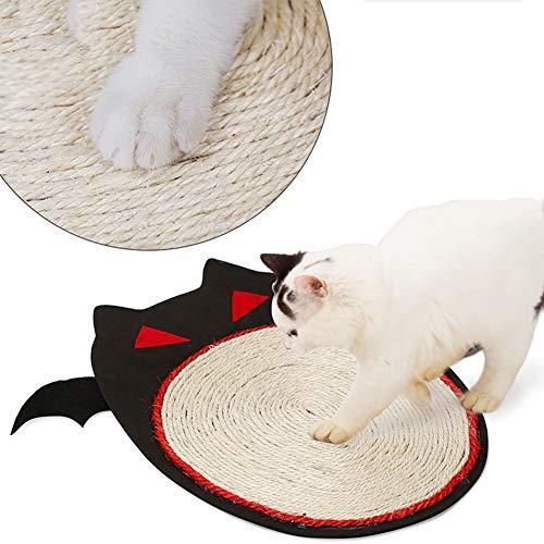 XDYFF Katzen Kratzmatte Kratzschutz Sisal Kratzteppich Spielzeug Teppichmatte Halloween Bat Design Katze Scrather Cat Kitty Scrathing Mat Board (Bat Design Halloween)