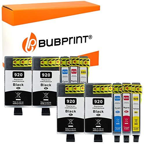 Bubprint 10 Druckerpatronen kompatibel für HP 920XL 920 XL für OfficeJet 6000 6500 6500A Plus 6500 Wireless 7000 7500A Schwarz Cyan Magenta Gelb (Ersatz Druckkopf Hp)