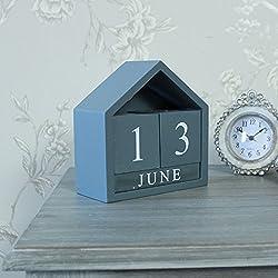 Gris de madera calendario perpetuo