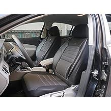 Cubiertas para Asientos de Automóvil 8P No1 Negro-Gris Protectores Juego Completo ara los Asientos Delanteros y Traseros Fundas de Asiento