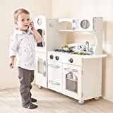 Teamson Kids White Country Living Cucina, 1 Pezzo, Multicolore