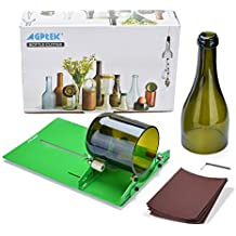 AGPtek Botella de vino cortador de vidrio herramienta de corte que alcanzaron el vino Máquina de corte de la botella por DIY reutilización recicla Oso ...