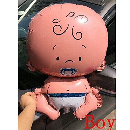 SwirlColor 5x Jungen Mädchen Cartoon aufblasbare Helium Folienballon Baby-Geburtstag Paty Dekoration