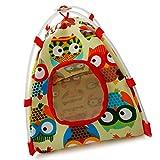 Aquir Tenda Birdcage Toy, Cages Bird Bed House fornitura per Pet Parrot Camping (giallo, S)