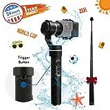 FeiyuTech G5 3-Achsen Gimbal Stabilisator, V2 Upgraded Spritzwassergeschützt Handheld Stabilisator für GoPro 6/5/4, AEE Sports Cams, Yi Cam 4K und Aktion Kameras mit Verlängerungsstange