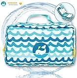 EDWEKIN 2in1 Wickeltasche und Kulturbeutel für Kinder, mitwachsende Windeltasche, Beauty Case, Kosmetiktasche, Necessaire für Babys und Kinder
