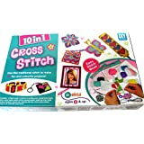 Dhinchak (Tm) Artbox 10 In 1 Cross Stitch Game For Girls - Multi Color