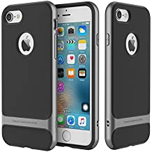ROCK iphone 7 Case Metallized Buttons Dual Layer Ultra Tough Shock Proof iphone 7 Case Cover