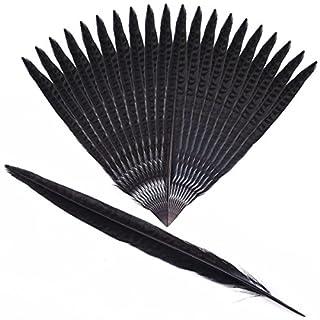 Anladia 20pcs Pheasant Feathers for Home WeddingDecoration (Black)
