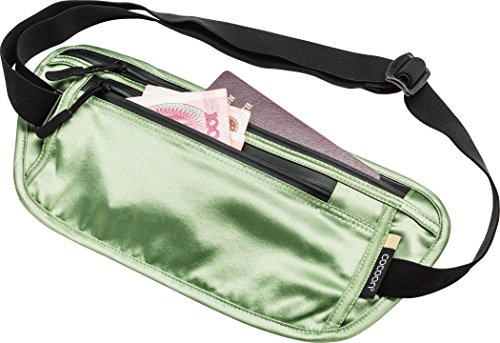 Cocoon Secret Waist Wallet Silk - Geldgürtel aus Seide light green