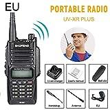 Nishci UV-XR Plus - Walkie-Talkie Recargable (10 km, Receptor de emisoras, Radio de 10 W, 128 Canales de Doble Banda, con Linterna LED integrada para Auriculares)