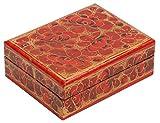 Offerta del giorno-Souvnear decorativo rosso (color of love) box-Carta pesta Trinket Jewlery box per anello orecchini catena-regali San Valentino