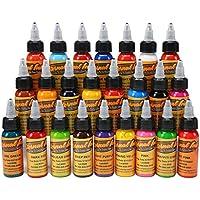 LVYY Tinta Profesional del Pigmento del Tatuaje 14 Colores Básicos Tinta del Tatuaje 1 Oz 30ml / Botella para El Maquillaje 3D Belleza del Cuerpo del Arte Corporal
