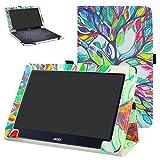 Acer One 10 S1003 hülle,Mama Mouth Folding Ständer Hülle Case mit Standfunktion für 10.1
