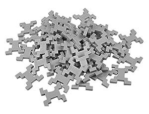 incastro Rígida 014Gr-Juegos de construcción rígida Cube, L 60Unidades, Gris