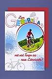 Fahrrad Geburtstag Karte Grußkarte Mountainbike Foliendruck 16x11cm