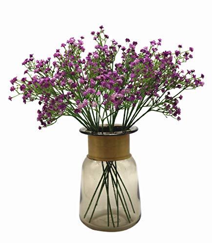 Anatural bouquet di fiori artificiali di gipsofila, realistici al tatto, per matrimoni, feste, anniversari, cerimonie, decorazione fai da te, casa, giardino, 10 pezzi, lunghezza 39,9 cm purple