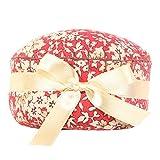 Neoviva puntaspilli tessuto rivestito per ago lungo, stile cupcake Floral Mandarin Red Blossom