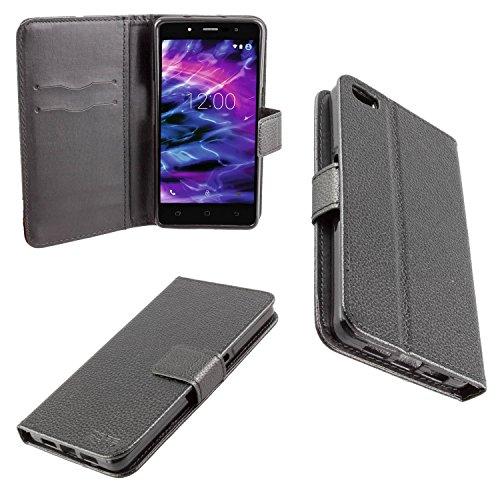 caseroxx Hülle/Tasche Bookstyle-Case Medion Life S5004 MD99722 Handy-Tasche, Wallet-Case Klapptasche in Schwarz