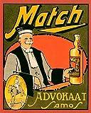 Vintage Booze Labels – Match Advokaat Samos Kunstdruck (60,96 x 76,20 cm)