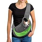 PETEMOO Bandolera para Perro Transportín Bolsa de Viaje para Mascotas Bolsa Portador de Perro Bolso de Hombro para Perros Gatos