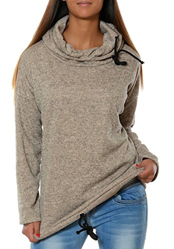 Automne Femme Casual Hiver Sweats à Capuche Mode Hooded Tops à Manches Longues Loose Sweat-shirt Pullover Sports Pull Hoodie Kaki