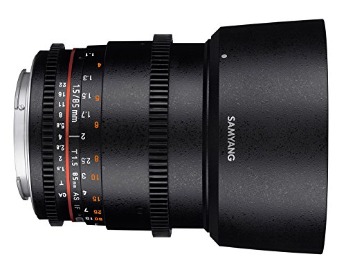 Samyang 85 mm T1.5 VDSLR II Manual Focus Video Lens for Sony E-Mount Camera