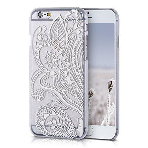 Kwmobile Custodia Chic Crystal Hard Case Super Sottile Per Apple Iphone 6 / 6S, Colore Trasparente fiori motivo paisley bianco trasparente
