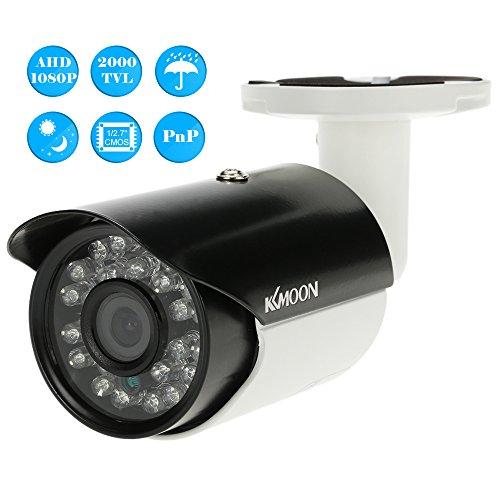 KKmoon Sicherheitsüberwachung Outdoor Indoor Bullet Kamera AHD 1080P 2000TVL Megapixel CCTV Unterstützung wetterfest IR-CUT Filter Nachtansicht Plug & Play 24 LEDs