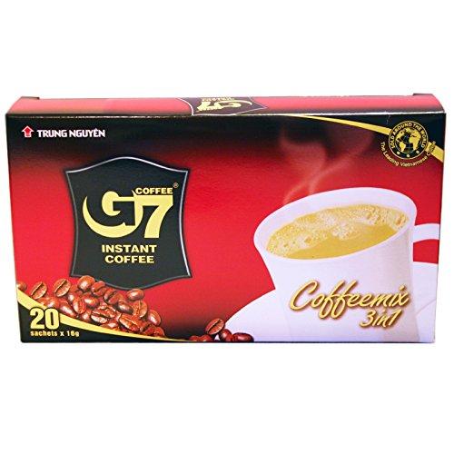 1Karton 24x320g (480Beutel) Instant Kaffeemix 3in1 mit Zucker und Milch G7 Vietnam