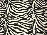 Zebra Fell Imitat schwarz weiß Stoff Meterware Velboa