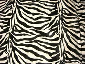 zebra fell imitat schwarz wei stoff meterware velboa fellimitat k che haushalt. Black Bedroom Furniture Sets. Home Design Ideas