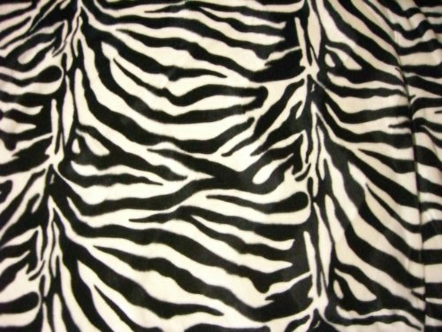 Zebra Fell Imitat schwarz weiß Stoff Meterware Velboa Fellimitat