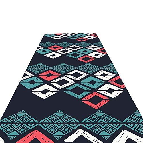 ANHPI Runner Teppiche Flur Geometrische Muster Rutschfester Cuttable Korridor Lange Teppiche Soft-Touch 6 Mm Stapelhöhe Größen Maßgeschneidert -